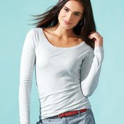 Women's Triblend Long Sleeve Scoop