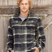 Snap Front Long Sleeve Plaid Flannel Shirt