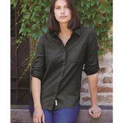 Women's Vintage Brushed Flannel Solid Shirt