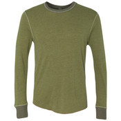 Eco-Jersey Feeder Stripe Long Sleeve Crewneck T-Shirt